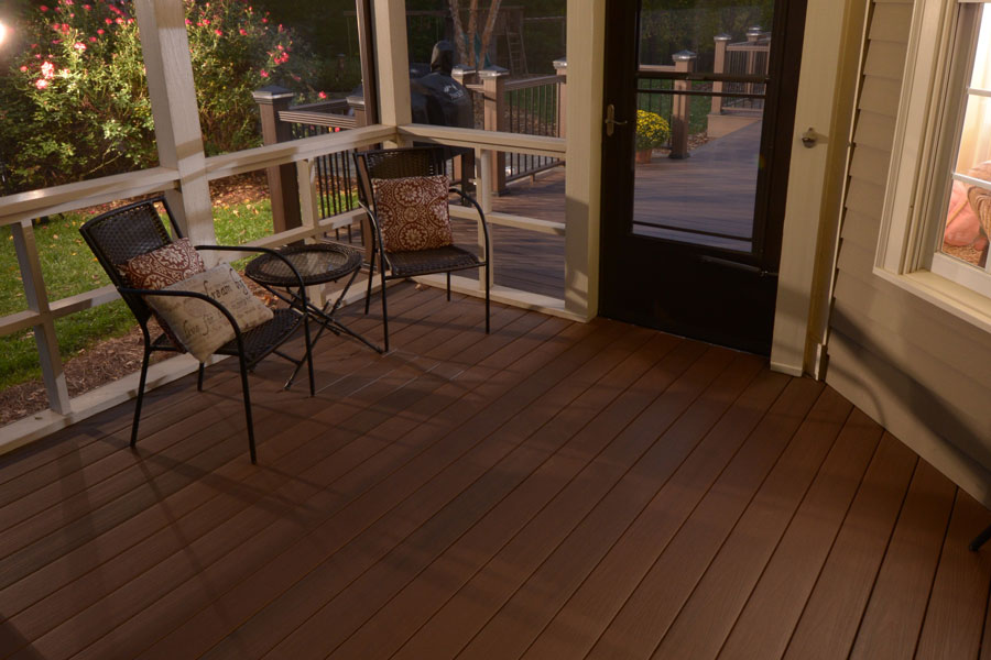 Image gallery in white armorguard for Veranda composite decking